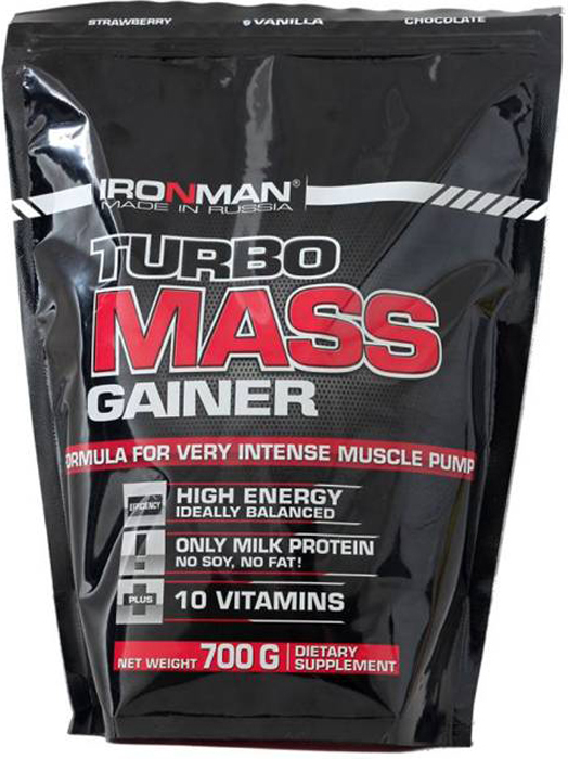 Гейнер Ironman Турбо Масс, шоколад, 700 г гейнер турбо масс земляника ironman 700 гр