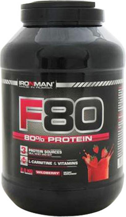 Протеин Ironman F-80, земляника, 2 кг ironman коллаген в екатеринбурге