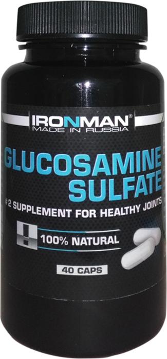 Глюкозамин и хондроитин Ironman Глюкозамина Сульфат, 40 капсул суставит глюкозамин хондроитин гель бальзам 100мл 125мл