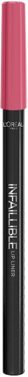 LOreal Paris Карандаш для контура губ Infaillible, оттенок 102, Леди в розовомA9306060Стойкий карандаш для губ помогает создать идеальный контур и не дает помаде растекаться. Невероятный выбор насыщенных ультрамодных оттенков.