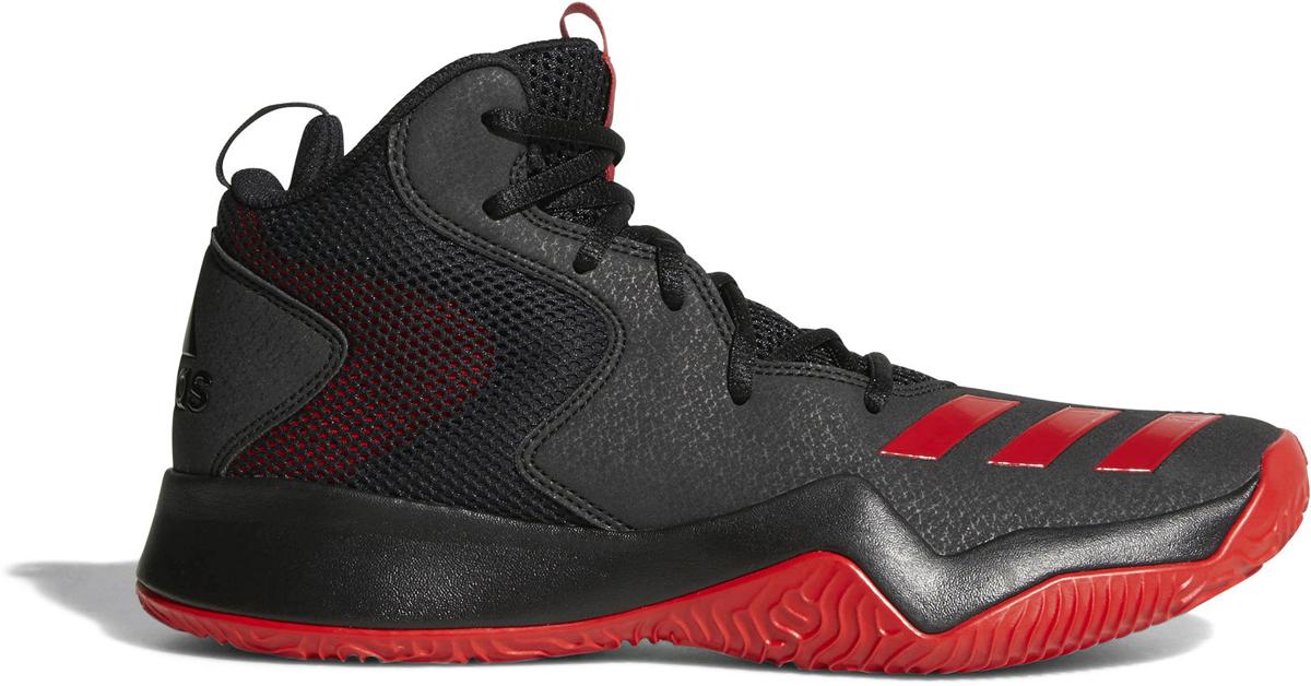 Кроссовки баскетбольные мужские Adidas Crazy Team II, цвет:  черный, красный.  CQ0833.  Размер 11 (44,5) Adidas