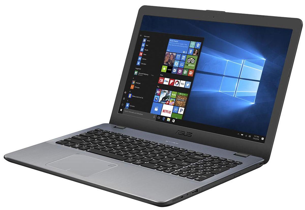 ASUS VivoBook 15 X542UA, Star Grey (X542UA-GQ003T)X542UA-GQ003TASUS VivoBook 15 X542UA обладает идеальным сочетанием красоты и производительности. В его аппаратнуюконфигурацию входят процессор Intel Core i3 седьмого поколения и 4 гигабайта оперативной памяти DDR4. Длябеспроводного подключения к интернету служит двухдиапазонный модуль Wi-Fi стандарта 802.11ac.Если ноутбук остается подключенным к зарядке, когда аккумулятор уже полностью заряжен, это можетпривести к ухудшению рабочих характеристик аккумулятора и, соответственно, к сокращению срока его службы.Такой режим работы может также стать причиной набухания аккумулятора из-за внутреннего накоплениягазов, вызванного окислением, потенциального деформирования или повреждения ноутбука. Технология ASUSBattery Health Charging позволяет установить предельный уровень заряда 60%, 80% или 100%, чтобы продлитьсрок службы батареи и уменьшить вероятность ее набухания.ASUS VivoBook 15 оснащен литий-полимерным аккумулятором, который поддерживает в три раза большееколичество циклов зарядки, чем стандартные литий-ионные аккумуляторы. Благодаря технологии быстройзарядки от ASUS аккумулятор ноутбука заряжается до 60% всего за 49 минут.Ноутбук оборудован компактным портом USB Type-C, имеющим специальную конструкцию, которая позволяетподключать USB-кабель к ноутбуку любой стороной. Порт USB 3.1 работает на скорости до 5 Гбит/с, то есть в 10раз быстрее, чем USB 2.0. Это означает быструю передачу больших объемов информации, напримервидеофайлов. ASUS VivoBook 15 также обладает видеовыходами HDMI и VGA, а также кардридеромSD/SDHC/SDXC для совместимости с широким спектром дисплеев, проекторов и периферийных устройств.Разработанная специалистами ASUS технология Splendid позволяет быстро настраивать параметры дисплея всоответствии с текущими задачами и условиями, чтобы получить максимально качественное изображение. Онапредлагает выбрать один из нескольких предустановленных режимов, каждый из которых оптимизирован подопределенные приложения 