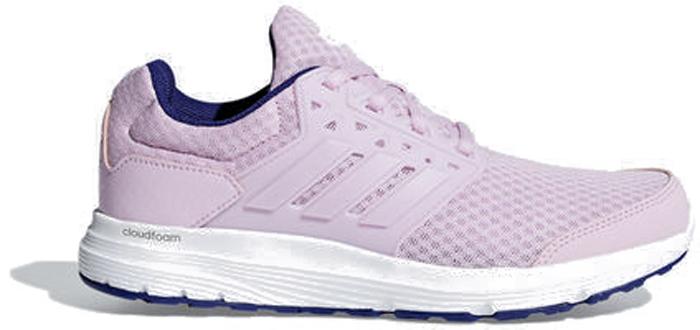 Кроссовки для бега женские Adidas Galaxy 3 W, цвет: розовый, белый. CP8814. Размер 5,5 (37,5)CP8814Кроссовки для бега Galaxy 3 - это беговые кроссовки с широкой колодкой для комфорта. Проклеенные синтетические вставки обеспечивают дополнительную поддержку, а верх из крупной сетки и дышащая сетчатая подкладка - максимальную вентиляцию. Промежуточная подошва Cloudfoam, созданная для поглощения ударных нагрузок и комфортной посадки без разнашивания, мягко амортизирует каждый шаг. Удобная и функциональная стелька OrthoLite гарантирует комфорт и удобство. Исключительно износостойкая подошва Adiwear прослужит долгое время.Перепад высоты: 10 мм (пятка: 26 мм / носок: 16 мм).