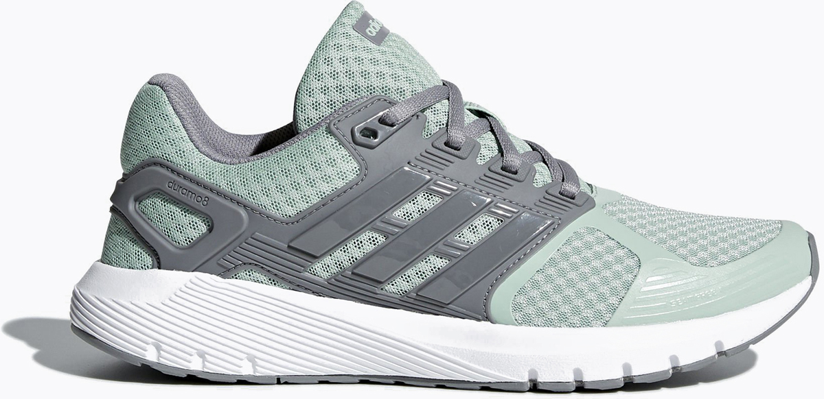 Кроссовки женские Adidas Duramo 8 W, цвет: серый, зеленый. CP8754. Размер 4,5 (36,5) ботинки adidas ботинки ch winterhiker ii cp w