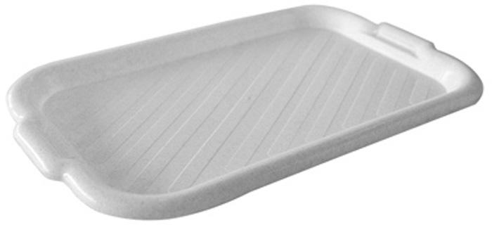 Поднос универсальный малый для переноски посуды. Прочный материал обеспечивает долговечность изделия. Рельефная поверхность предотвращает скольжение посуды на подносе.