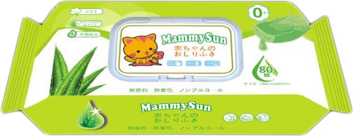 MammySun Детские влажные салфетки 80 шт влажные салфетки vestar алоэ вера освежающие 15 шт