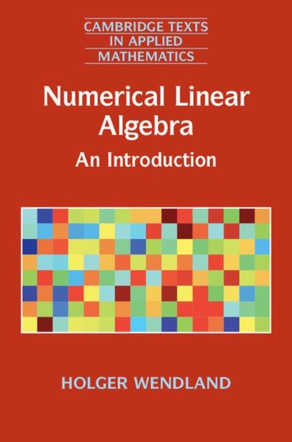 Numerical Linear Algebra numerical methods for linear control systems