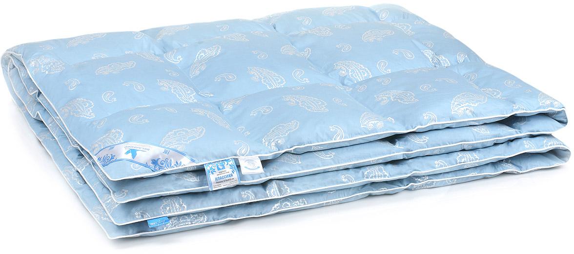 Одеяло Belashoff Классика, кассетное, цвет: голубой, 140 х 205 смОПП 2 - 1Коллекция Классика — удачный пример качественных постельных принадлежностей с наполнителем, сочетающим гусиный пух и перо. Именно пух обеспечивает идеальную циркуляцию воздуха внутри изделия, а перо увеличивает его пластичность и упругость. Правильный уход позволяет сохранить эластичность наполнителя и продлить срок службы изделия.