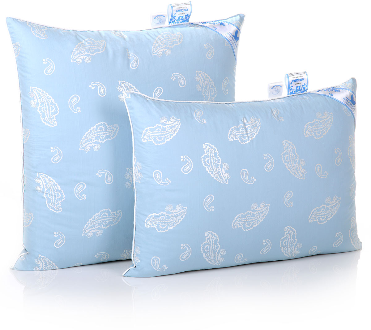 Подушка Belashoff Классика, средняя, цвет: голубой, 50 х 70 смПП 2 - 2 СКоллекция Классика — удачный пример качественных постельных принадлежностей с наполнителем, сочетающим гусиный пух и перо. Именно пух обеспечивает идеальную циркуляцию воздуха внутри изделия, а перо увеличивает его пластичность и упругость. Правильный уход позволяет сохранить эластичность наполнителя и продлить срок службы изделия.