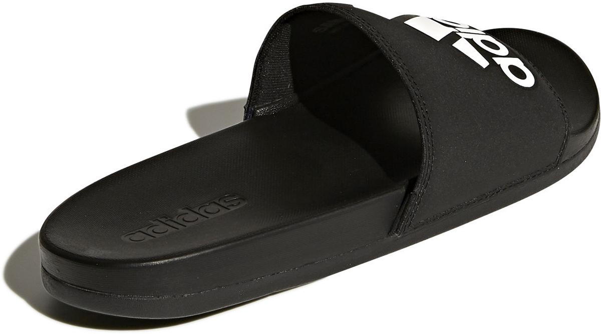 Шлепанцы мужские Adidas Adilette Cloudfoam Plus Logo, цвет: черный, белый. CG3425. Размер 11 (44,5)CG3425Очень удобные мужские слайды в классическом стиле. Промежуточная подошва оснащена Cloudfoam Plus для сверхмягкого мягкого ощущения.