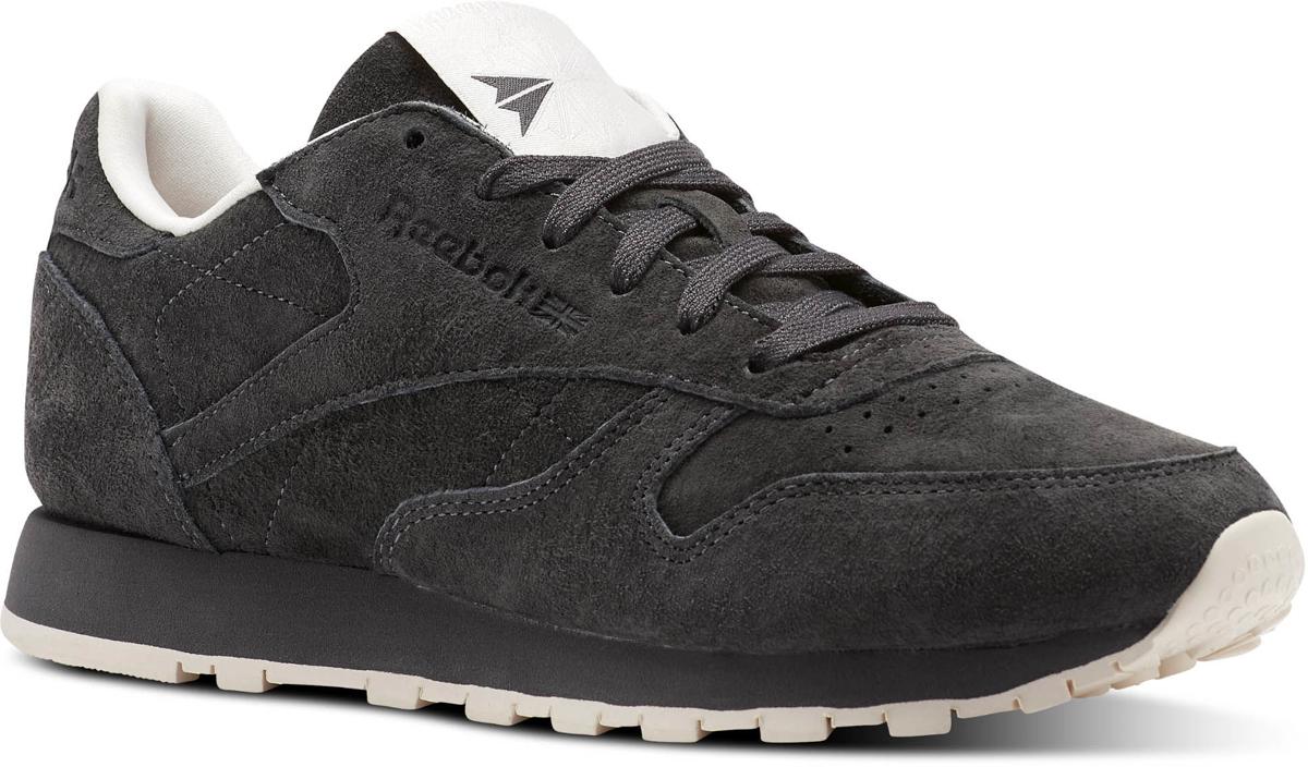 Кроссовки женские Reebok Classic Leather Tonal Nbk, цвет: черный. BS9881. Размер 7,5 (38)