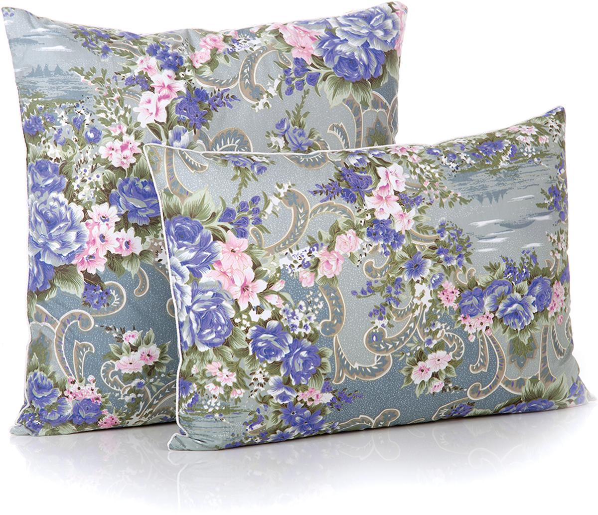 Подушка Belashoff Оптима, цвет: серый, синий, розовый, 50 х 70 смПО 2Традиционный пухо-перовой наполнитель подушки прошел все этапы современной очистки и обработки. Хлопковая ткань верха и отличный натуральный наполнитель - это ОПТИМАльное решение для Вашего сна.