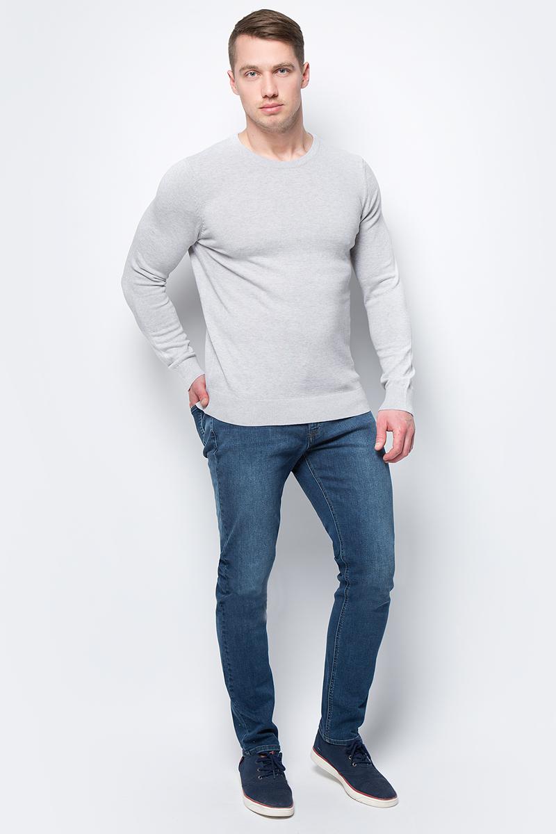 Джемпер мужской Sela, цвет: светло-серый. JR-214/858-8152. Размер XXL (54)