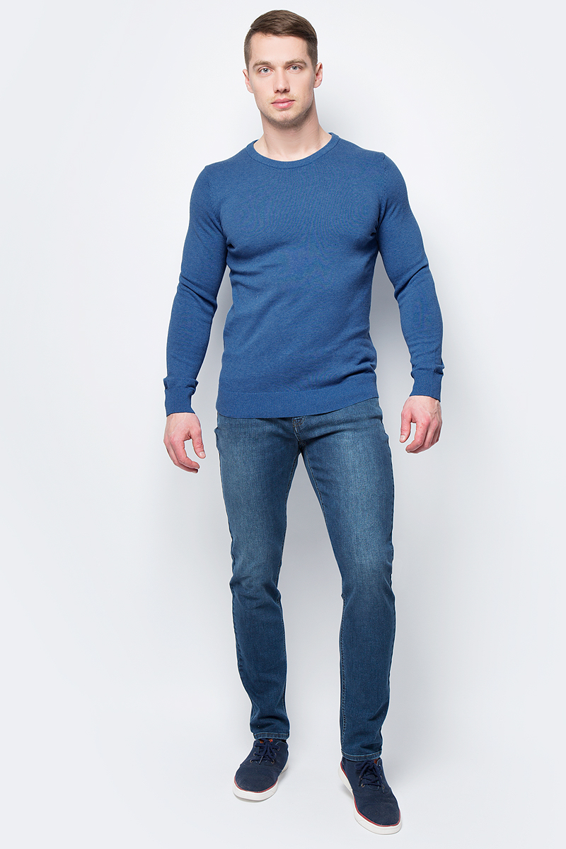 Джемпер мужской Sela, цвет: синий. JR-214/858-8152. Размер XL (52)JR-214/858-8152