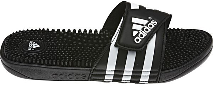 Шлепанцы мужские Adidas Adissage, цвет: черный, белый. 078260. Размер 8 (40,5)