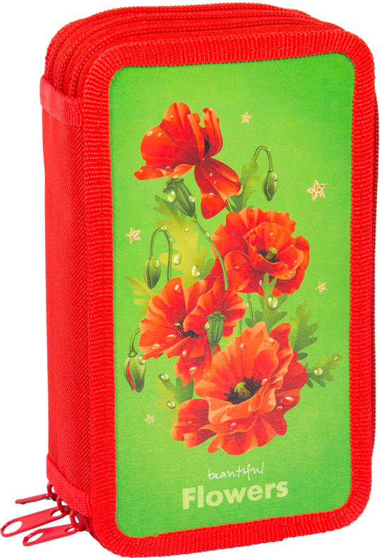 ArtSpace Пенал 3 отделения Цветы30П25-3_ПК12_15501Удобный пенал для школьных канцелярских принадлежностей. Пенал имеет три отделения и надежную застежку - молнию