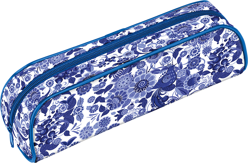 Berlingo Пенал-косметичка Русские узоры Синий на беломPM04802Пенал-косметичка Berlingo Русские узоры Синий на белом - отлично подходит для школьных канцелярских принадлежностей, закрывается на молнию.Поставляется без наполнения.