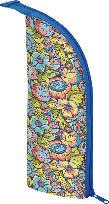 Berlingo Пенал FlowersPM04902Мягкий пенал Berlingo Flowers выполнен в форме стакана. Его удобно поставить на стол и использовать в качестве подставки для школьных канцелярских принадлежностей. Пенал прекрасно держит форму. Имеется подкладка из качественного полиэстера. Закрывается на застежку-молнию. Поставляется без наполнения.