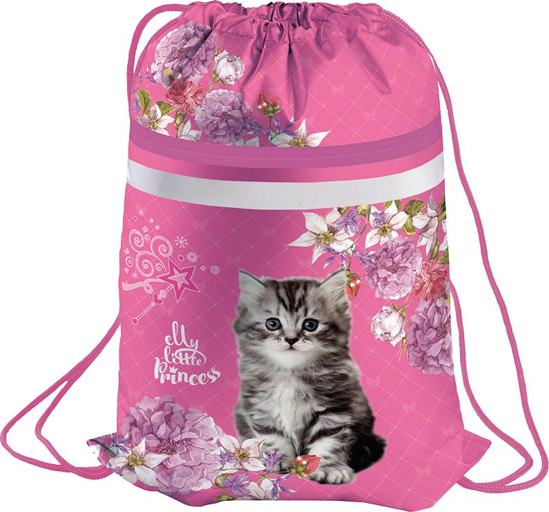 Berlingo Мешок для обуви Kitten цвет розовый stylish animals kitten pattern square shape flax pillowcase without pillow inner