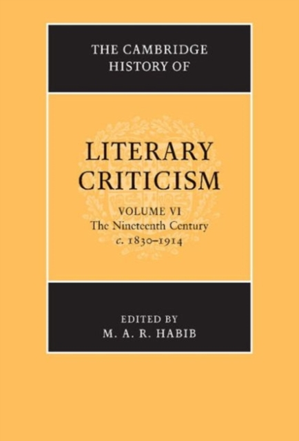 The Cambridge History of Literary Criticism a new literary history of america