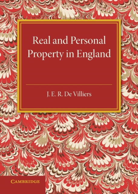 The History of the Legislation Concerning Real and Personal Property in England