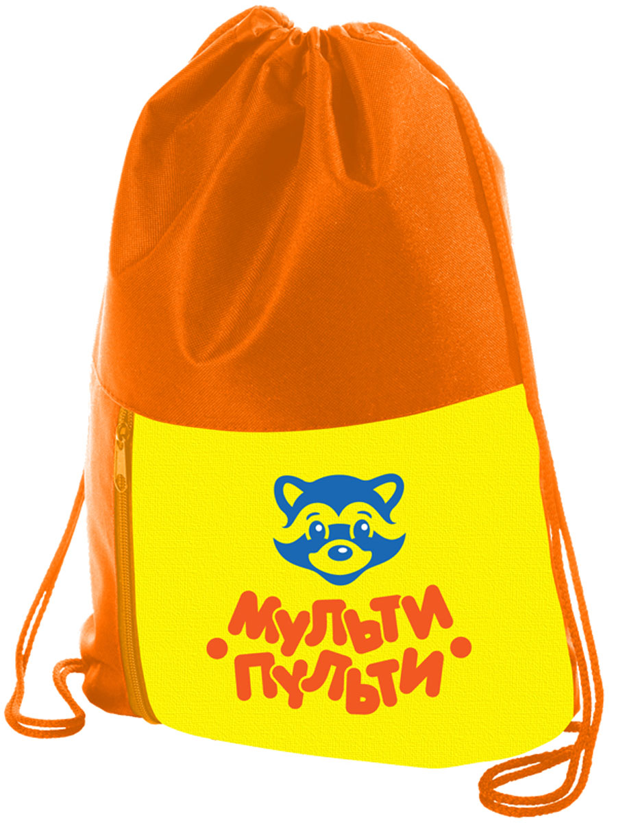 Мульти-Пульти Мешок для обуви Приключения Енота цвет оранжевый мульти пульти мягкая игрушка принцесса луна 18 см со звуком my little pony мульти пульти