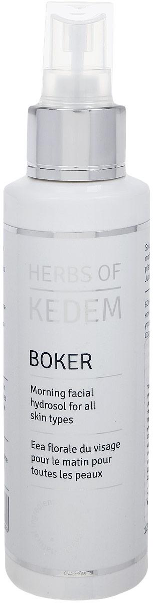 Kedem Тоник для утреннего ухода за кожей лица Boker, 250 мл освежающий тоник для лица c био дамасской розой и комплексом daymoistclr logona