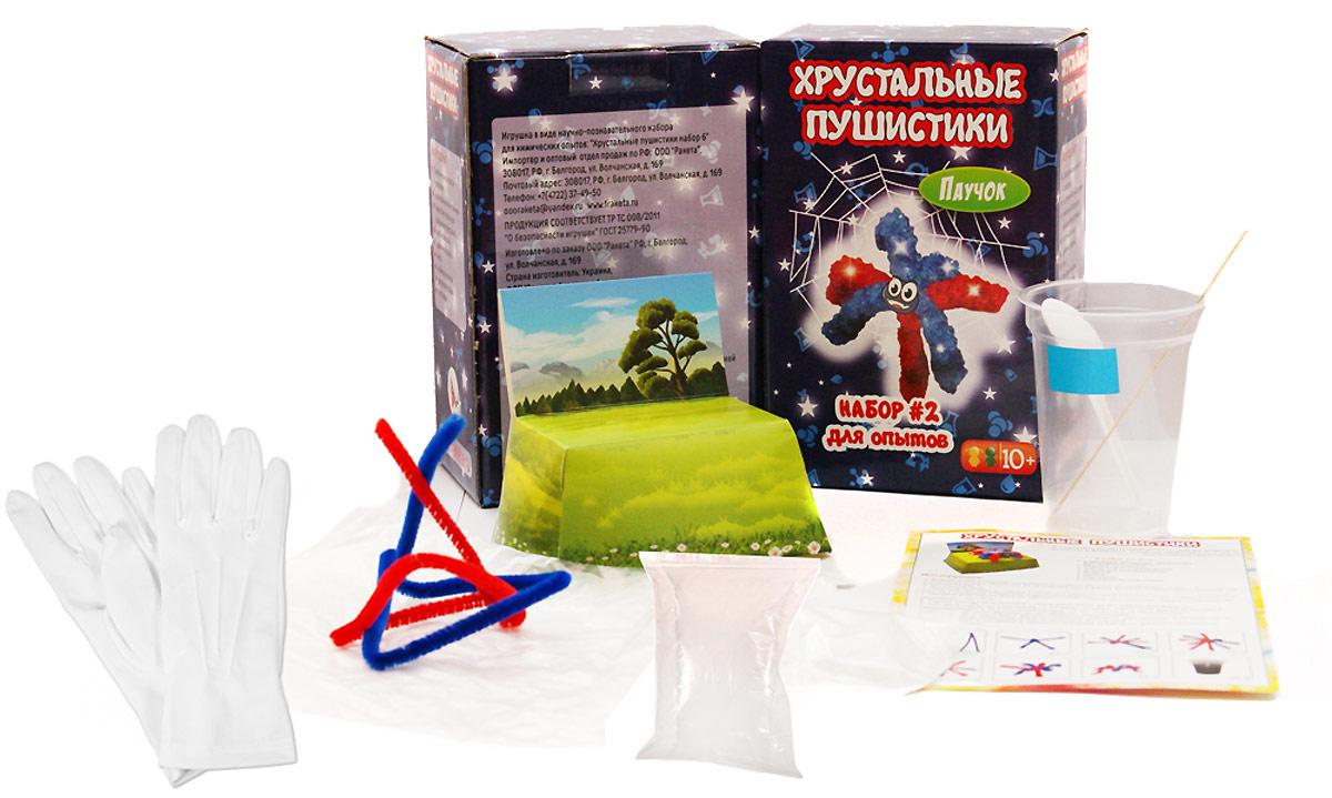 Ракета Набор для опытов и экспериментов Хрустальные пушистики Паук
