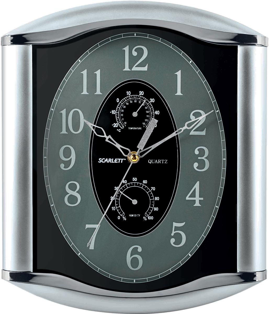 Настенные кварцевые часы Scarlett SC-55L, изготовленные из  пластика, прекрасно впишутся в интерьер  вашего дома. Прямоугольные часы имеют три стрелки: часовую,  минутную и секундную, циферблат защищен прозрачным  пластиком.  Часы работают от 1 батарейки типа АА напряжением 1,5 В  (батарейка в комплект не входит).