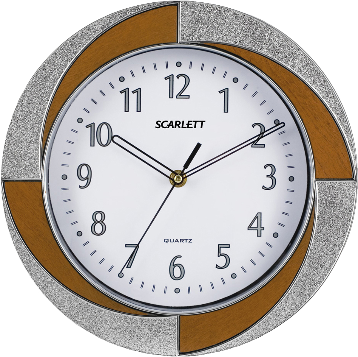 Scarlett SC-55RA часы настенныеSC-55RAЭлемент питания: тип АА 1.5V Период работы от одного элемента: 12 месяцев Относительная влажность помещения от 30% до 80% Температура: от 1°С до 45°С Плавный ход секундной стрелки