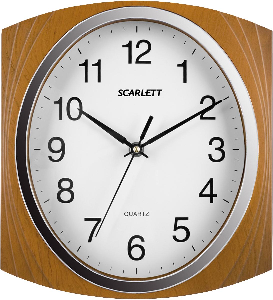 Scarlett SC-55RB часы настенныеSC-55RBЭлемент питания: тип АА 1.5V Период работы от одного элемента: 12 месяцев Относительная влажность помещения от 30% до 80% Температура: от 1°С до 45°С Плавный ход секундной стрелки
