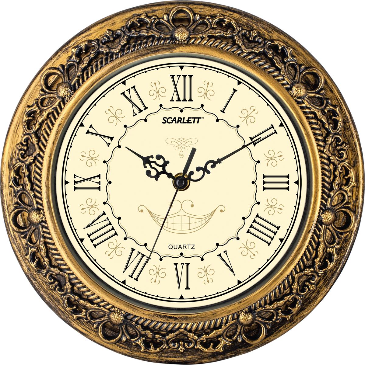 Scarlett SC-WC1007I часы настенныеSC-WC1007IКварцевый механизм Плавный бесшумный ход Материал корпуса - пластик Относительная влажность помещения от 30% до 80% Температура: от 1°С до 45°С