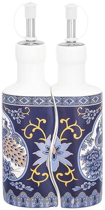 Набор емкостей для масла и уксуса Elan Gallery Павлин синий, 200 мл, 2 шт