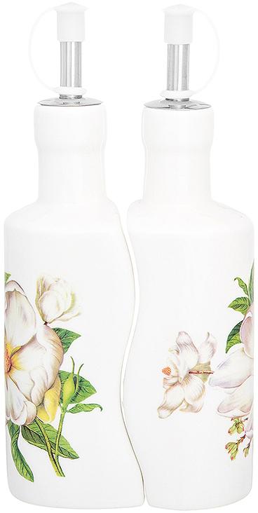 Набор емкостей для масла и уксуса Elan Gallery Белый шиповник, 200 мл, 2 шт
