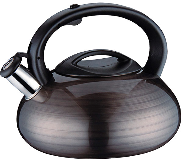Чайник EuroStal, 3 л. ESK-3010ESK-3010Чайник со свистком 3,0 литра .Изготовлен из высококачественной нержавеющей сталиЧайник оснащен эргономичной ручкой и свисткомПодходит для всех видов плитМожно мыть в посудомоечной машине.