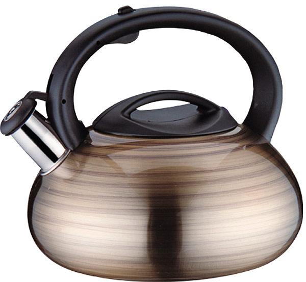 Чайник EuroStal, 3 л. ESK-3011ESK-3011Чайник со свистком 3,0 литра .Изготовлен из высококачественной нержавеющей сталиЧайник оснащен эргономичной ручкой и свисткомПодходит для всех видов плитМожно мыть в посудомоечной машине.