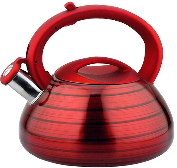 Чайник EuroStal, 3 л. ESK-3013ESK-3013Чайник со свистком 3,0 литра .Изготовлен из высококачественной нержавеющей сталиЧайник оснащен эргономичной ручкой и свисткомПодходит для всех видов плитМожно мыть в посудомоечной машине.