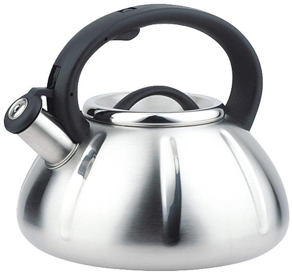 Чайник EuroStal, со свистком, 3 л. ESK-3018ESK-3018Чайник со свистком 3,0 литра .Изготовлен из высококачественной нержавеющей сталиЧайник оснащен эргономичной ручкой и свисткомПодходит для всех видов плитМожно мыть в посудомоечной машине.