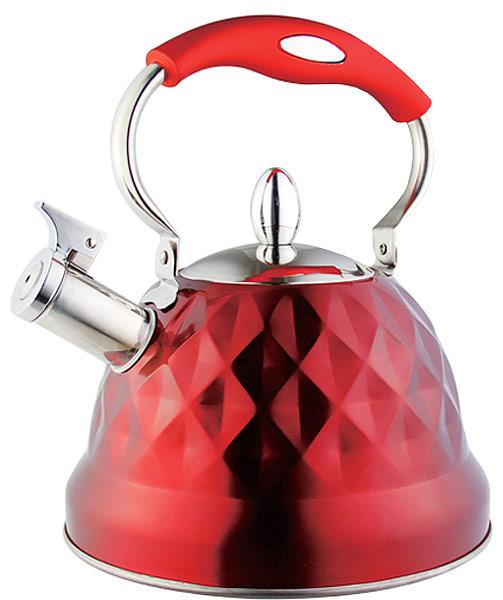 """Чайник """"EuroStal"""" изготовлен из высококачественной нержавеющей стали. Нержавеющая сталь обладает высокой устойчивостью к коррозии, не вступает в реакцию с холодными и горячими продуктами и полностью сохраняет их вкусовые качества.  Чайник оснащен эргономичной ручкой и свистком, звуковой сигнал которого подскажет, когда закипит вода.  Подходит для всех видов плит.  Можно мыть в посудомоечной машине."""
