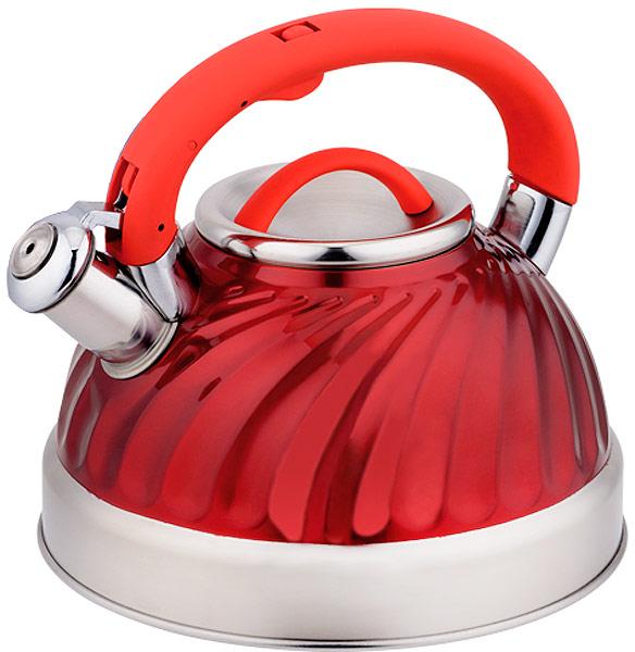 Чайник EuroStal, со свистком, 3 л. ESK-3029ESK-3029Чайник со свистком 3,0 литра .Изготовлен из высококачественной нержавеющей сталиЧайник оснащен эргономичной ручкой и свисткомПодходит для всех видов плитМожно мыть в посудомоечной машине.
