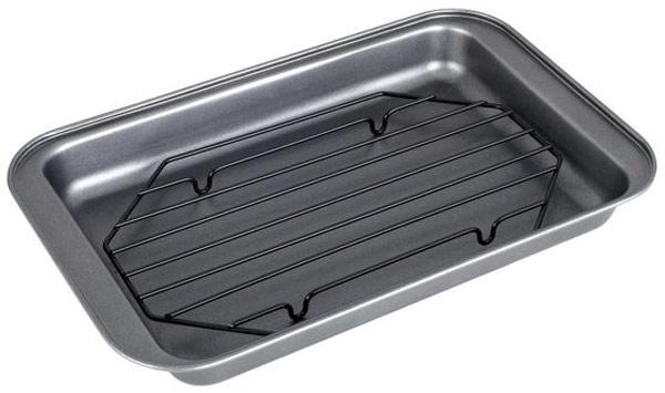 Форма для запекания Чудесница, 31,5 x 19,7 x 3,5 см. ФЗ-008ФЗ-008Форма для запекания Чудесница изготовлен из высококачественной углеродистой стали с антипригарным покрытием. Такая посуда незаменима для приготовления запеканок, всевозможных блюд из мяса и овощей, а также выпечки из теста и изысканных кондитерских блюд. В комплект входит решетка-гриль. Антипригарное покрытие исключает необходимость использования большого количества масла. Подходит для использования в духовках. Форма – прямоугольнаяРазмеры: 31.5x19.7x3.5 смРешетка-гриль.