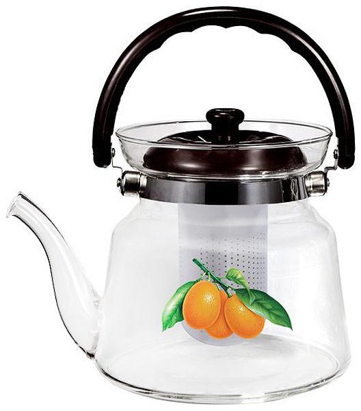 Заварочный чайник Чудесница изготовлен из жаропрочного стекла. У чайника удобная не нагревающаяся ручка, фильтр из нержавеющей стали. Можно мыть в посудомоечной машине.