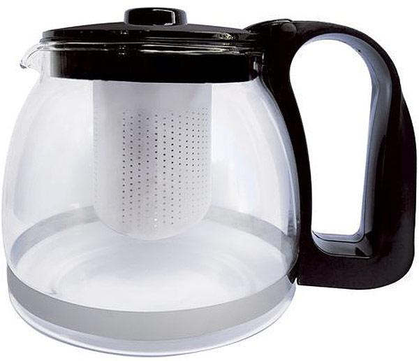 Чайник заварочный Чудесница, 1,2 л. ЧЗ-1201ЧЗ-1201Заварочный чайник Чудесница ЧЗ-1201, (объем 1,2л, цельное высокопрочное стекло, черная пластиковая крышка и ручка, фильтр из нержавеющей стали )