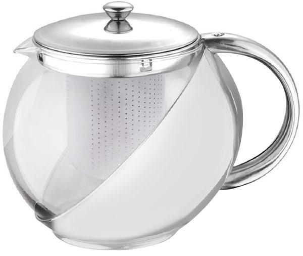 Чайник заварочный Чудесница, 750 мл. ЧЗ-750ЧЗ-750Заварочный чайник Чудесница ЧЗ-750, (объем 0,75л, цельное высокопрочное стекло, металлическое покрытие из нержавеющей стали, фильтр из нержавеющей стали )