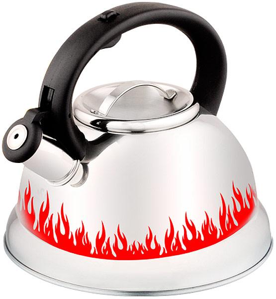 Чайник Элис, 3 л. ЭЛ-3052ЭЛ-3052Чайник со свистком 3,0 литра .Изготовлен из высококачественной нержавеющей сталиЧайник оснащен эргономичной ручкой и свисткомНа изделии нанесен терморисунок, который меняет цвет при нагшревании Подходит для всех видов плитМожно мыть в посудомоечной машине.