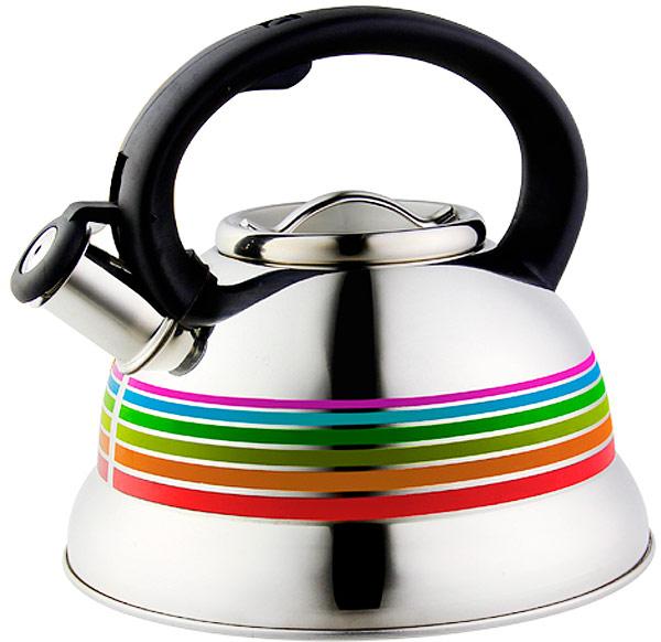 Чайник Элис, 3 л. ЭЛ-3053ЭЛ-3053Чайник со свистком 3,0 литра .Изготовлен из высококачественной нержавеющей сталиЧайник оснащен эргономичной ручкой и свисткомНа изделии нанесен терморисунок, который меняет цвет при нагшревании Подходит для всех видов плитМожно мыть в посудомоечной машине.