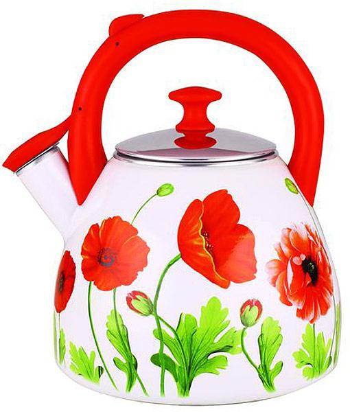 Чайник Чудесница выполнен из высококачественной стали с эмалированным покрытием. Чайник оснащен эргономичной ручкой и свистком.  Красочный дизайн с узорами.