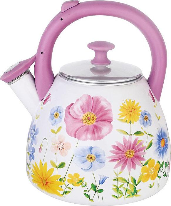Чайник Чудесница выполнен из высококачественной стали с эмалированным покрытием. Трехслойное эмалированное покрытие.  Чайник оснащен эргономичной ручкой и свистком.  Красочный дизайн с узорами.