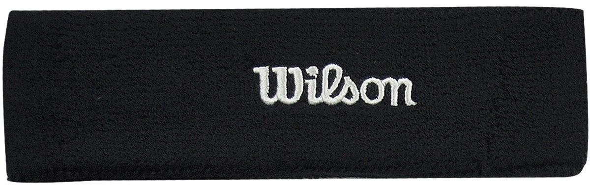 Повязка Wilson Headband, цвет: черный. Размер универсальныйWR5600170Повязка на голову от Wilson - необходимый аксессуар для матчей и тренировок. Позволяет собрать волосы и защищает от попадания пота в глаза. Состав материала: 90% хлопок, 6% спандекс, 4% нейлон.