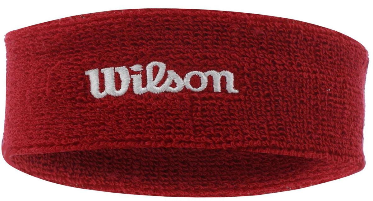 Повязка Wilson Headband, цвет: красный. Размер универсальныйWR560019090% хлопок/6% спандекс /4% нейлон